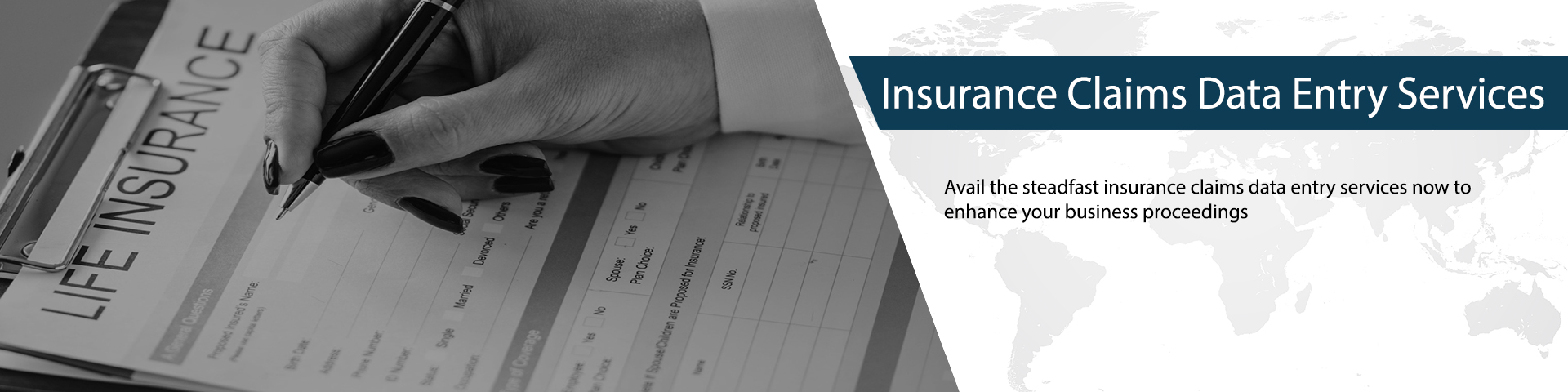 Insurance Claim Data Entry Services