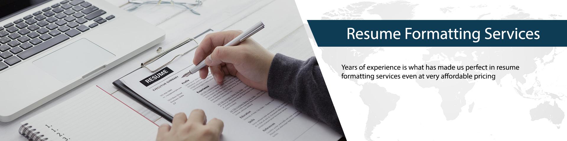 Resume Formatting Services