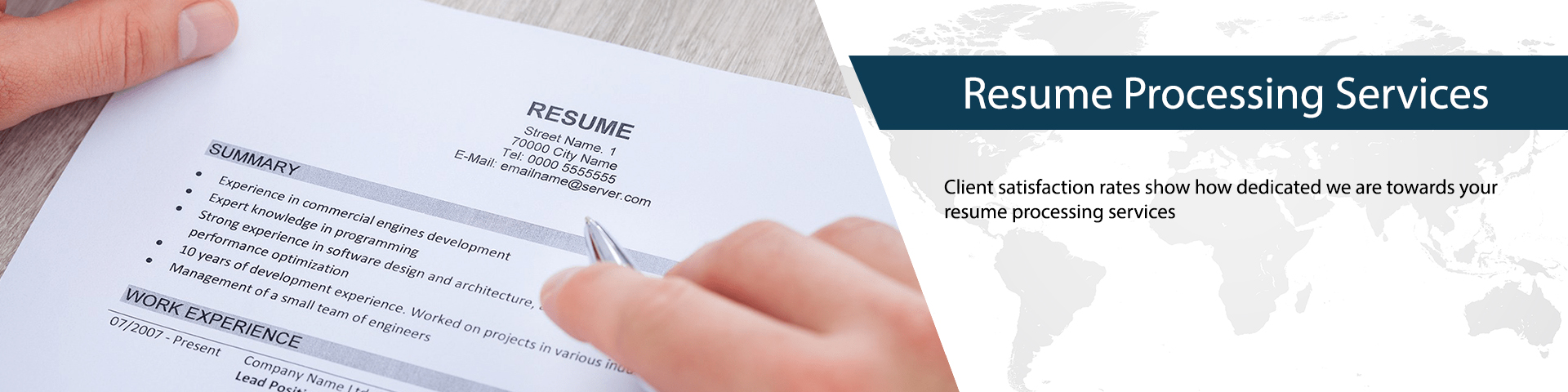Resume Processing Services