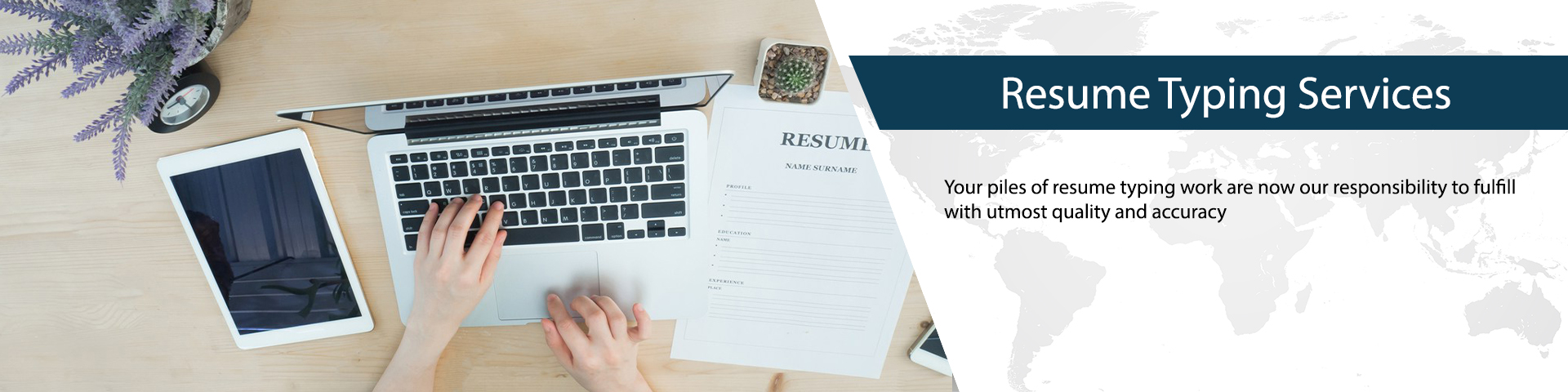 Resume Typing Services