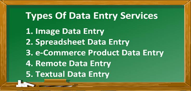 Types of data entry services available in the commercial market